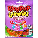 Ring Pop Valentine's Day Gummies Chains Candy - Individual 12 Bags Assorted Gummy Candy Flavors (5 Oz Bag) - Fun Candy Valentines & Candy Jewelry for Kids