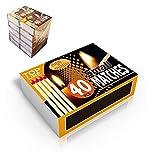 TOP LINE 90105 Cajas de 40 Cerillas, Paquete de 10 Unidades, Varios Colores, 51 x 35.8 x 15.1 mm