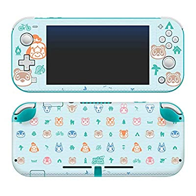 """Controller Gear Authentic and Officially Licensed Animal Crossing: New Horizons - """"Outdoor Pattern"""" Nintendo Switch Lite Skin"""