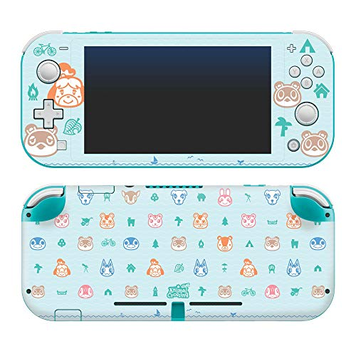 Controller Gear Authentic and Officially Licensed Animal Crossing: New Horizons - Outdoor Pattern - Nintendo Switch Lite Skin - Nintendo Switch