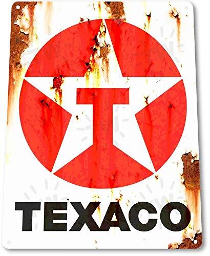 SIGNCHAT Blechschild Texaco Rost Öl Tankstelle Pumpe Teile Service Auto Shop Garage A645 Blechschild 20,3 x 30,5 cm