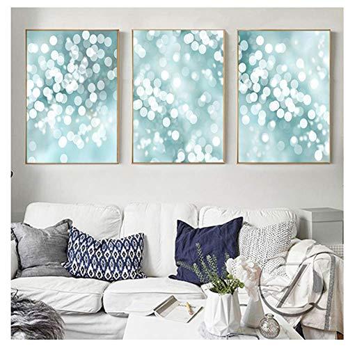 nr Nordic Light Green canvas schilderij poster en prints Mooie kinderkamer muurkunst prints foto's voor het leven -50x70cmx3 zonder lijst
