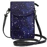 Star Starry Sky Sun Galaxy Space Monedero para teléfono celular Cartera para mujer Chica Bolsos pequeños para monedero cruzado