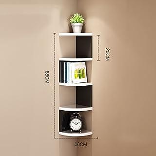 Shelf Estantería de estantería de madera S Estantería de visualización de almacenamiento en forma de 5 Niveles Estantería de 7 capas Estantería divisoria de la habitación Estantería para CD DVD Porta