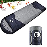 Best Light Sleeping Bags - CANWAY Sleeping Bag with Compression Sack, Lightweight Review