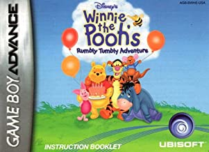 Winnie the Pooh - Rumbly Tumbly Adventure GBA Instruction Booklet (Game Boy Advance Manual only) (Nintendo Game Boy Advance Manual)