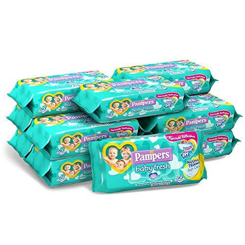 Pampers Baby Fresh Tücher, 12 Packungen à 50 Stück, 600 Tücher