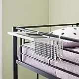 Walker Edison Universal Metal Bunk Bed Shelf Kids Bedroom Storage Basket, 14 Inch, White