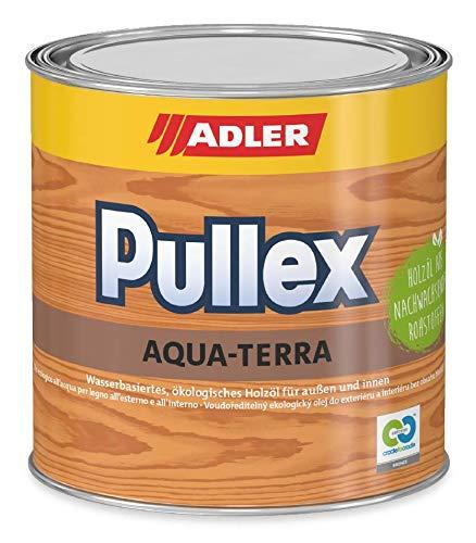 ADLER Pullex Aqua-Terra - Ökologisches Holzöl Außen & Innen - Universell anwendbar für starken Wasserschutz & lange Haltbarkeit - Auf Wasserbasis & nachwachsender Rohstoffe - 750ml Farbe Lärche