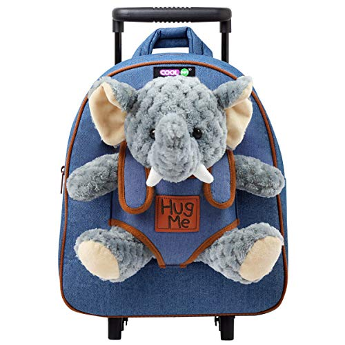COOLDOT Plush Rolling Backpack with Stuffed Animal Toy and...