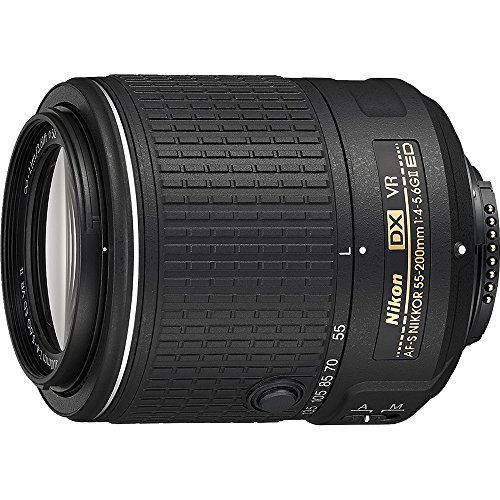 Nikon 55-200mm f/4-5.6G VR II DX AF-S ED Zoom-Nikkor Lens (Renewed)