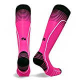 Vitalsox Italian Premium Patented Graduated Compression Silver Drystat Running Socks(1Pair-Compression), Pink, Large