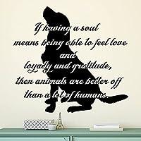 魂を持っていることはペットの引用の壁のステッカーを意味する場合グルーミングサロンの引用犬の壁のステッカー取り外し可能なデカール42X45cm