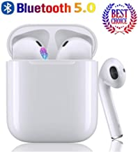 Wireless Earbuds Bluetooth 5.0 Headphones 2019 Latest Intelligent Noise Reduction (Support Fast Charging) Pop-ups Auto Pairing /iPhone/Apple/Samsung/Airpods and Airpod in-Ear Headphones
