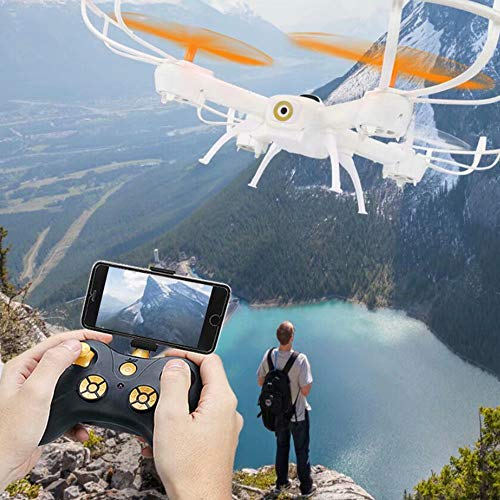 WY-Drone Drohne mit WiFi-Kamera Live-Video-Headless-Modus 2,4 GHz 4 CH 6-Achsen-Gyro-Quadcopter