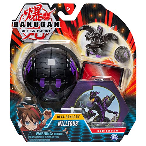 Bakugan 6055015 Deka, Nillious, Jumbo Collectible Transforming Figure, for Ages 6 and Up, Multicolour