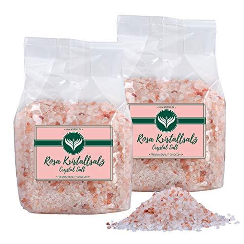 Azafran Rosa Kristallsalz (bekannt als Himalaya Salz) Steinsalz grob 2-5mm 2kg