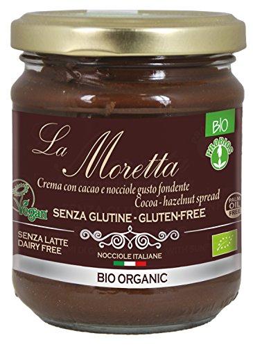 Probios la Moretta Pâte à Tartiner au Chocolat Noir sans Lait Bio 200 g - Lot de 2