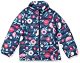 Amazon Essentials Girls' Lightweight Water-Resistant Packable Puffer Jacket Outerwear-Jackets, Floral Azul Marino, 6-7 años