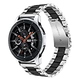 TRUMiRR Bracelet de Montre en Acier Inoxydable 22mm pour Samsung Gear S3 Classic Frontier, Galaxy Watch 46mm, Moto 360 2 46mm,Pebble Time,ASUS ZenWatch 1 2 Men,LG G Watch Urbane W150
