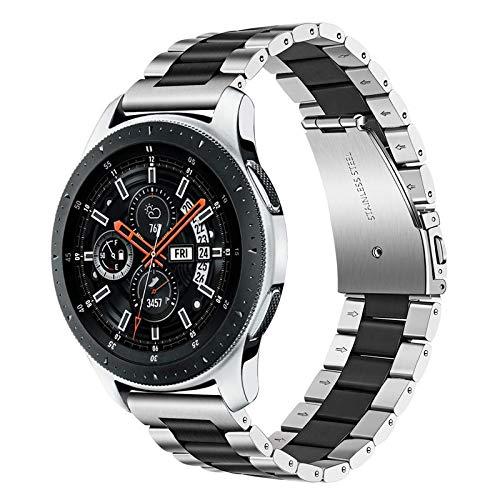 TRUMiRR 22mm Correa de Reloj de Acero Inoxidable Correa de liberación rápida para Samsung Gear S3 Classic/Frontier, Galaxy Watch 46mm,Moto 360 2 46mm, ASUS ZenWatch 1 2 Hombres, LG G Watch Urban
