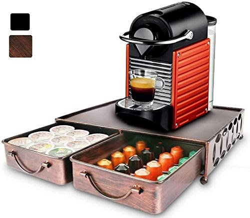 Coffee Pod Holder with 2pcs Multifunctional Storage Drawer Organizer for Tea bags K Cup Pods product image