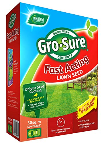 Gro-Sure Fast Acting Grass Lawn Seed, 30 m2, 900 g