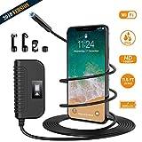 Holife Endoscopio WiFi, Cámara de Inspección, Distancia Focal 3-500cm, Píxeles 200W, Resolución 1920 * 1080P, Batería de 2600 mAh, 6 LED Ajustable, IP68 Impermeable/Android y iOS 3,5M- Ver Claro