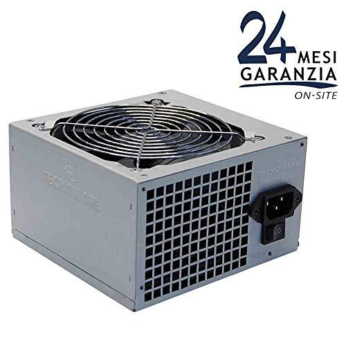 Tecnoware Fuente de Alimentación Free Silent ATX 550 W reales para PC. Ventilador Super Silent de 12 cm, 2 x SATA, 1 x 24 polos, 1 x 12 V, 4+4 polos, 2 x Molex, 1 x Floppy. Paquete individual