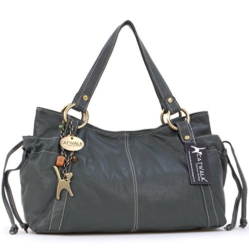 "Borsa in pelle a spalla di Catwalk Collection""Mia"" - Verde"