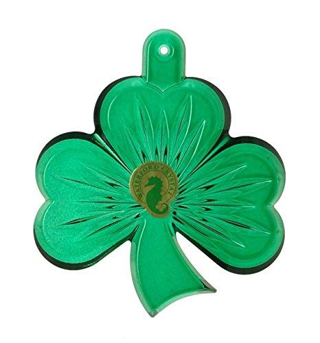 Waterford Crystal Green Shamrock Ornament New 2014