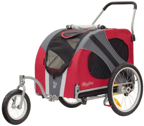 DoggyRide Novel Dog Jogger-Stroller, Urban Red