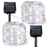 LiyuanQ Solar String Lights Outdoor Rope Lights, 2 Pack 8 Modes 100 LED Solar...