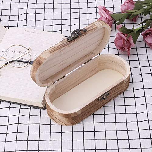 Lesebrille Box Mode Sonnenbrille Naturholz Falten Handgefertigte Aufbewahrungskoffer Hart Schutz Vintage Paket Brille