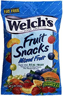 Welch's Fruit Snacks, Mixed Fruit, 5-Ounce Bags (Pack of 12)