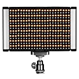 Neewer Luz de Video LED - Panel LED Bi-color Regulable con Zapata Fría Estándar para Cámaras DSLR, 280 Granos LED, 3200-5600K, CRI 95+ (Batería NO incluida)