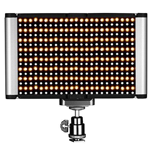 Neewer Illuminazione video LED-Pannello LED Dimmerabile da 2 Colori con Standard Coldshoe PER DSLR Fotocamera, 280 Bulbi LED, 3200-5600K, (CRI) 95+ (B