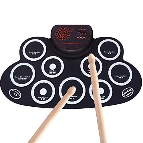 Qinmo Percusión, Grupo de percusión electrónicos portátiles, Equipo de batería Roll Up...