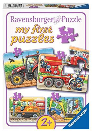 Ravensburger Kinderpuzzle 06954 - Bei der Arbeit - my first puzzles - 2,4,6,8 Teile