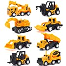 Vanplay Alloy Construction Vehicle Toy Set Pull Back Excavator Die Cast Scale 1:55 Truck for Kids Boys 3 4 5 year