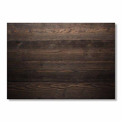 100 Papier-Tischsets Motiv Holz Dunkel I dv_332 I DIN A3 I Platzsets Platzdecken Tisch-Unterlage aus Papier modern Einweg edel