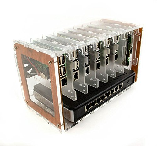 Cloudlet CASE: for Raspberry Pi and Other Single Board Computers (Wood)