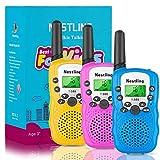 Nestling Walkie Talkie Niños, 3 Pack Walkie Talkies para Niños 8 Canales Función de VOX, Larga Distancia 3KM, Linterna Incorporado Juguete Regalo para Niños