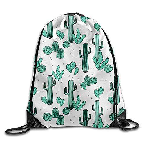 Cactus Desert Water Life Camel Drawstring Storage Bag Drawstring Backpack for Men & Women School Travel Backpack