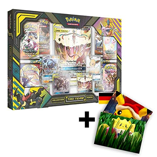Lively Moments Pokemon Karten Tag Team Power Kollektion Psiana & Deoxys-GX DE Deutsch + GRATIS Grußkarte