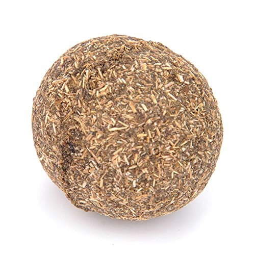 Catnip Ball - Cat Natural Catnip Toys Menthol Flavor Kitten Treat Ball Cats Playing Cleaning Teeth Toy Clean Tooth Food - Brown