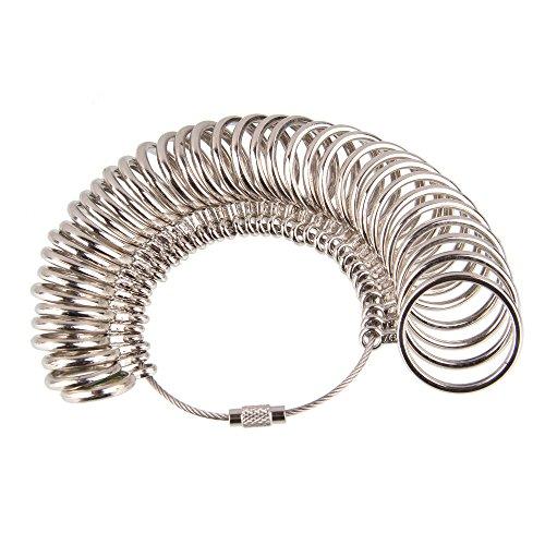 Beauty7 Metalllegierung Ringmass Ringgröße Bestimmung Ring Messgerät Finger Size Measure Standard EU Größen