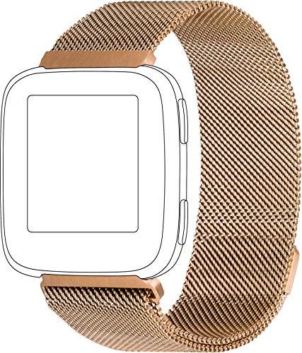 topp - Mesh Armband für Fitbit Versa, Roségold