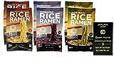 Lotus Foods Gluten Free Rice Ramen Noodle Soup   Vegan   3 Flavor 6 Bag Variety (2) each: Millet & Brown Rice Red Miso, Forbidden White Miso, Jade Pearl Wakame (2.8 Ounces) Plus Recipe Booklet Bundle
