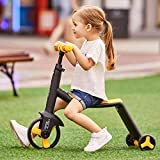 STRUCTOTA 3 in 1 Ride on Scooter Adjustable in Height Handle Non-Slip Surface Wheels 3 Wheels...